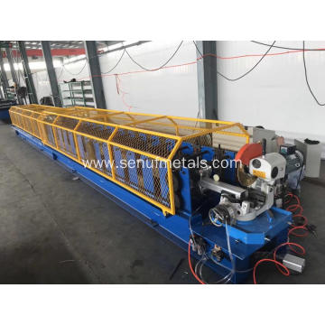 Auxiliary elbow machine for downpipe forming machine
